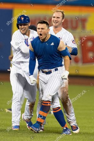 Editorial picture of Indians Mets Baseball, New York, USA - 21 Aug 2019