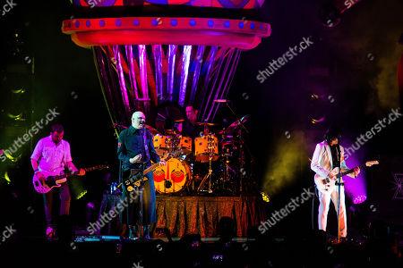 Billy Corgan of Smashing Pumpkins performs on stage at Ameris Bank Amphitheatre, in Alpharetta, Ga