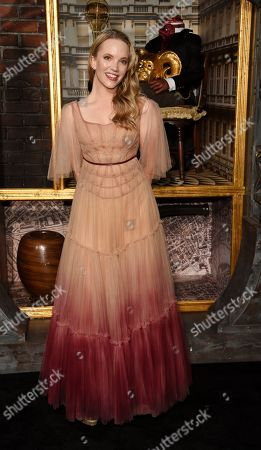 """Tamzin Merchant, a cast member in the Amazon Prime Video series """"Carnival Row,"""" poses at the premiere of the series at the TCL Chinese Theatre, in Los Angeles"""