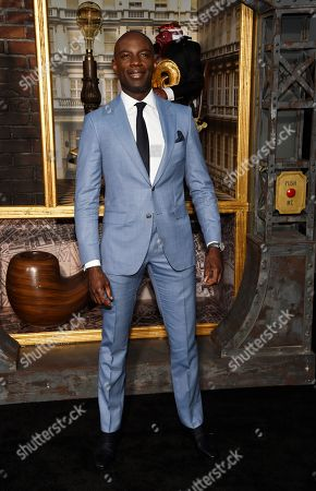 "David Gyasi, a cast member in the Amazon Prime Video series ""Carnival Row,"" poses at the premiere of the series at the TCL Chinese Theatre, in Los Angeles"
