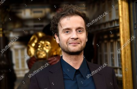 """Andrew Gower, a cast member in the Amazon Prime Video series """"Carnival Row,"""" poses at the premiere of the series at the TCL Chinese Theatre, in Los Angeles"""