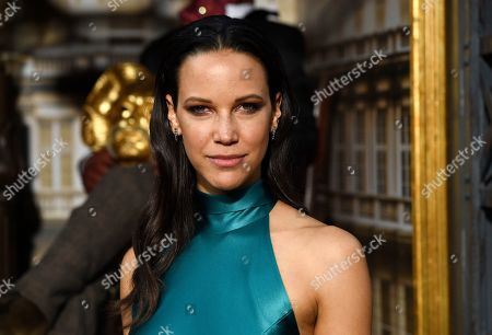 """Caroline Ford, a cast member in the Amazon Prime Video series """"Carnival Row,"""" poses at the premiere of the series at the TCL Chinese Theatre, in Los Angeles"""