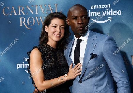 "David Gyasi, Emma Gyasi. David Gyasi, a cast member in the Amazon Prime Video series ""Carnival Row,"" poses with his wife Emma at the premiere of the series at the TCL Chinese Theatre, in Los Angeles"