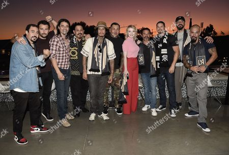 Editorial photo of 'Mayans M.C.' TV show cast at Los Angeles Football Club v San Jose Earthquakes, Los Angeles, USA - 21 Aug 2019