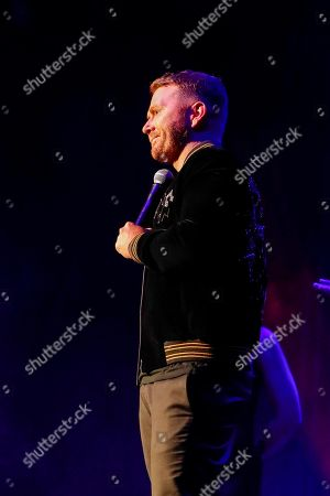 Shane McAnally accepts the Songwriter of the Year Award at the 13th annual ACM Honors at the Ryman Auditorium, in Nashville, Tenn
