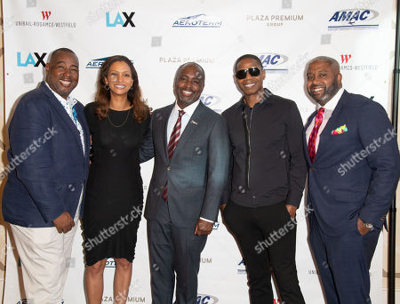 Steve Jones, Deborah Flint, Marqueece Harris- Dawson, Doug E Fresh and Greg Plummer