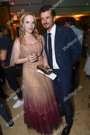 Stock Picture of Tamzin Merchant and Orlando Bloom