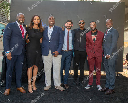 Greg Plummer, Deborah Flint, Steve Jones, Greg Russell, Doug E Fresh, Anthony Barnes and Marqueece Harris-Dawson