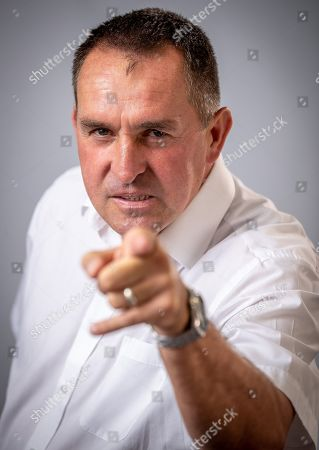 Stock Image of Martin Allen Manager Of Chesterfield Football Club. Aug 9th 2018 - Chesterfield  UK .