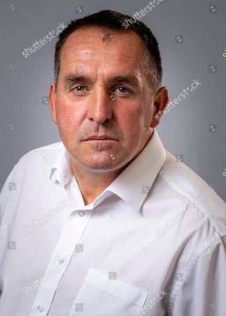 Stock Photo of Martin Allen Manager Of Chesterfield Football Club. Aug 9th 2018 - Chesterfield  UK .
