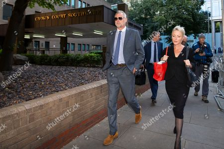 Stock Picture of John Leslie departs Southwark Crown Court