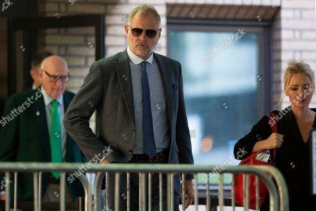 John Leslie departs Southwark Crown Court