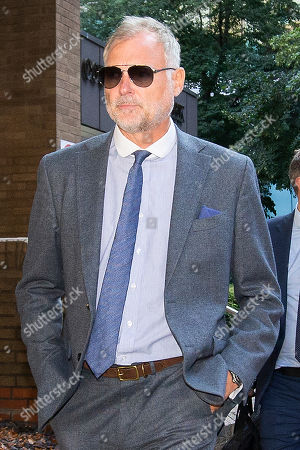 Stock Photo of John Leslie departs Southwark Crown Court