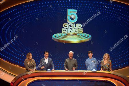 Jade, Jimmy Carr, Phillip Schofield, Michael and Rachel Riley.