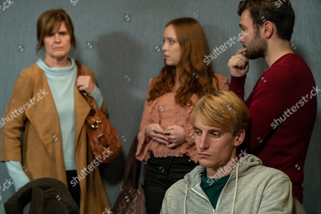 Siobhan Finneran as Elaine Pickford, Jessica D'Arcy as Lora, Jake Davies as Liam and Charlie Cooper as Kevin Reape.