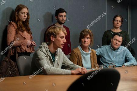Jessica D'Arcy as Lora, Charlie Cooper as Kevin Reape, Jake Davies as Liam, Siobhan Finneran as Elaine Pickford, Ian Puleston-Davies as Mick O'Callaghan and Simone Lahbib as Debbie.