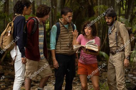 Madeleine Madden as Sammy, Nicholas Coombe as Randy, Jeff Wahlberg as Diego, Isabela Moner as Dora and Eugenio Derbez as Alejandro