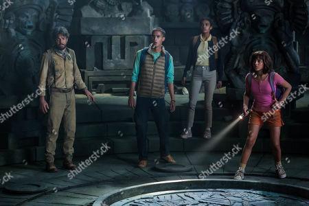 Eugenio Derbez as Alejandro, Jeff Wahlberg as Diego, Madeleine Madden as Sammy and Isabela Moner as Dora