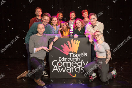 Nominees for the Dave Edinburgh Comedy Awards are announced for 2019, now in it's 39th year (L-R): Henry Perriment, Joe Barnes (Goodbear), Jordan Brookes (front), Jessica Fostekew, Darren Harriott, London Hughes, Spencer Jones, Amy Gledhill (Delightful Sausage), Ivo Graham, Chris Cantrill (Delightful Sausage) and Demi Lardner.