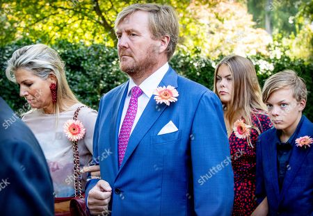 Queen Maxima and King Willem-Alexander accompany the coffin with Princess Christina who is transferred from the Dome of Fagel to the Coach House on the grounds of Noordeinde Palace.