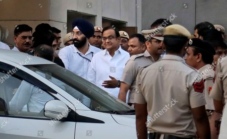 Editorial picture of -Ex Finance Minister Arrested, New Delhi, India - 22 Aug 2019