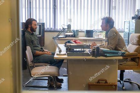 Chris Evans as Ari Levinson and Greg Kinnear as Walton Bowen