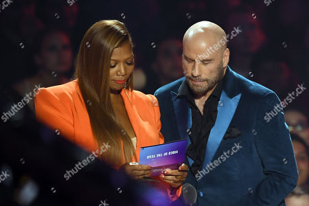 Stock Picture of Queen Latifah and John Travolta