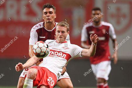 Editorial image of Sporting Braga vs Spartak Moscow, Portugal - 22 Aug 2019
