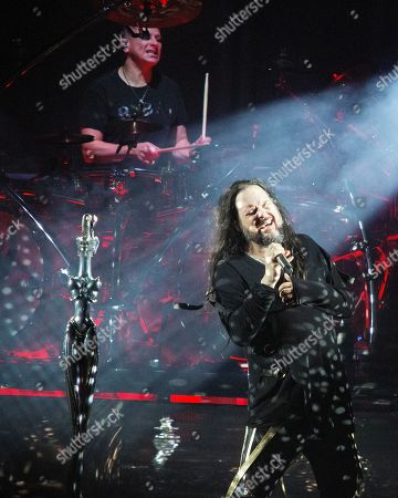 Stock Picture of Korn - Jonathan Davis and Ray Luzier