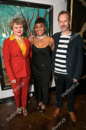Monica Dolan (Toni Lafayette), Ola Ince (Director) and Steven MacKintosh (Bo Lafayette)
