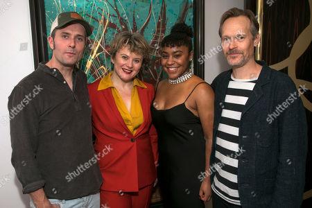 Edward Hogg (Franz Lafayette), Monica Dolan (Toni Lafayette), Ola Ince (Director) and Steven MacKintosh (Bo Lafayette)