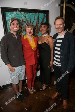 Stock Image of Edward Hogg (Franz Lafayette), Monica Dolan (Toni Lafayette), Ola Ince (Director) and Steven MacKintosh (Bo Lafayette)