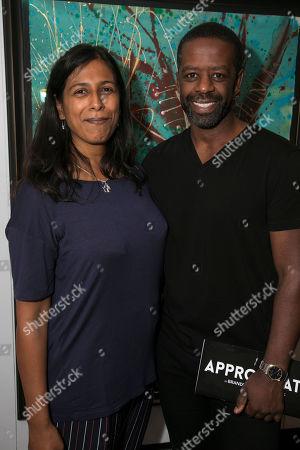 Stock Picture of Lolita Chakrabarti and Adrian Lester