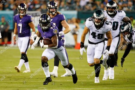Editorial picture of NFL Ravens vs Eagles, Philadelphia, USA - 22 Aug 2019