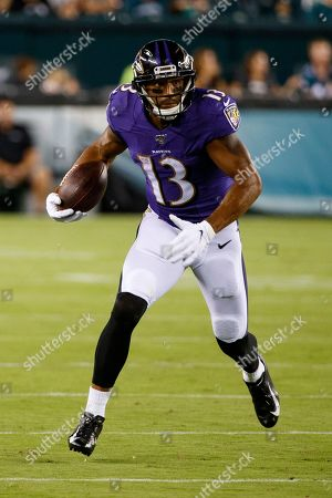 Baltimore Ravens wide receiver Michael Floyd (13) in action during the NFL preseason game between the Baltimore Ravens and the Philadelphia Eagles at Lincoln Financial Field in Philadelphia, Pennsylvania