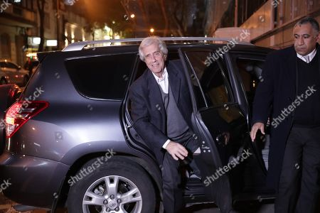 Uruguayan President Tabare Vazquez arrives to the Spanish Association, health center where he will be admitted for 48 hours for medical tests to determine the malignancy of the pulmonary nodule that was detected, in Montevideo, Uruguay, 22 August 2019.