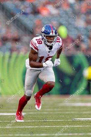 New York Giants wide receiver Bennie Fowler (18) during NFL football preseason game action between the New York Giants and the Cincinnati Bengals at Paul Brown Stadium in Cincinnati, OH
