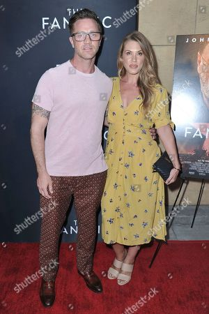 "Stock Picture of Devon Sawa, Dawni Sahanovitch. Devon Sawa, left, and Dawni Sahanovitch attend the LA premiere of ""The Fanatic"" at the Egyptian Theatre, in Los Angeles"