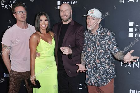 "Stock Photo of Devon Sawa, Ana Golja, John Travolta, Fred Durst. Devon Sawa, from left, Ana Golja, John Travolta and Fred Durst attend the LA premiere of ""The Fanatic"" at the Egyptian Theatre, in Los Angeles"