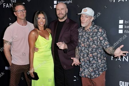 "Stock Picture of Devon Sawa, Ana Golja, John Travolta, Fred Durst. Devon Sawa, from left, Ana Golja, John Travolta and Fred Durst attend the LA premiere of ""The Fanatic"" at the Egyptian Theatre, in Los Angeles"