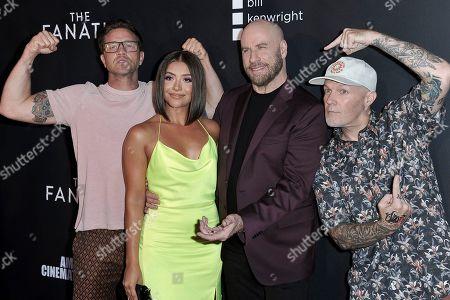 "Devon Sawa, Ana Golja, John Travolta, Fred Durst. Devon Sawa, from left, Ana Golja, John Travolta and Fred Durst attend the LA premiere of ""The Fanatic"" at the Egyptian Theatre, in Los Angeles"