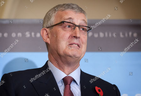 Sir Christopher Kelly at press conference on publication of The Committee on Standards in Public Life's report with regard to MPs expenses