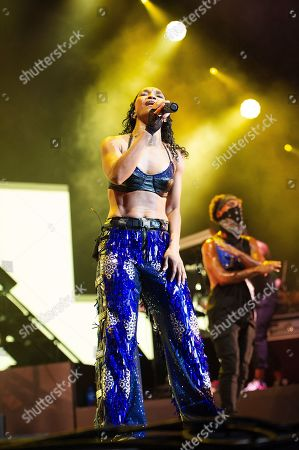 Stock Picture of Rozonda Thomas with TLC performs live at Austin 360 Amphitheater, Circuit of The Americas. Austin, Texas