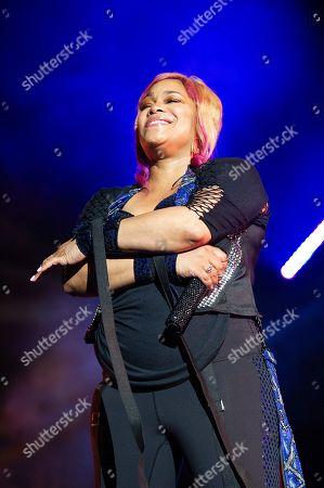 Tionne â?Å?T-bozâ?Â? Watkins with TLC performs live at Austin 360 Amphitheater, Circuit of The Americas. Austin, Texas
