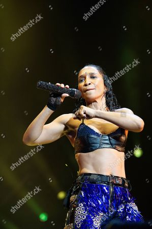 Rozonda Thomas with TLC performs live at Austin 360 Amphitheater, Circuit of The Americas. Austin, Texas