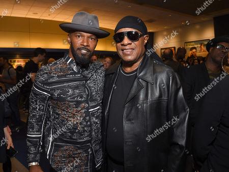 Jamie Foxx and Stevie Wonder
