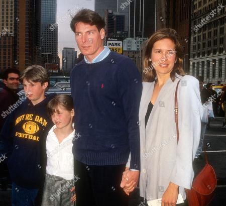 Chris Reeve Kids Alexandra Reeve Matthew Reeve Dana Reeve 1994
