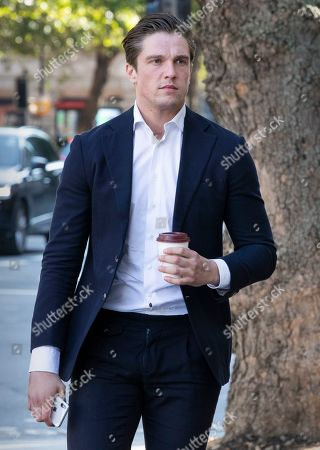Lewis Bloor arrives at Westminster Magistrates Court
