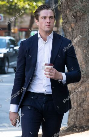 Stock Picture of Lewis Bloor arrives at Westminster Magistrates Court