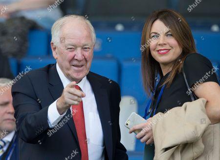 Kilmarnock v Aberdeen. former scotland manager Craig Brown with Aberdeen media boss Lisa Sheran